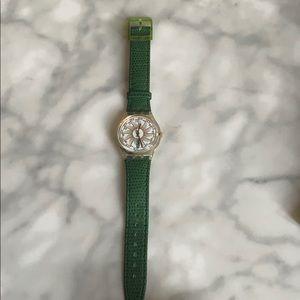 Green Swatch Watch